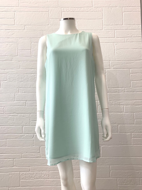 Mint Boat Neck Shift Dress