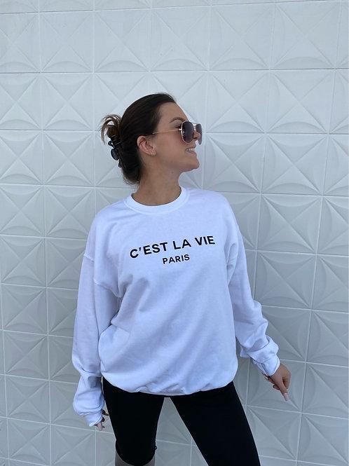 Paris Pullover White
