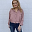 Thumbnail: Pink Long Sleeve Cropped Top