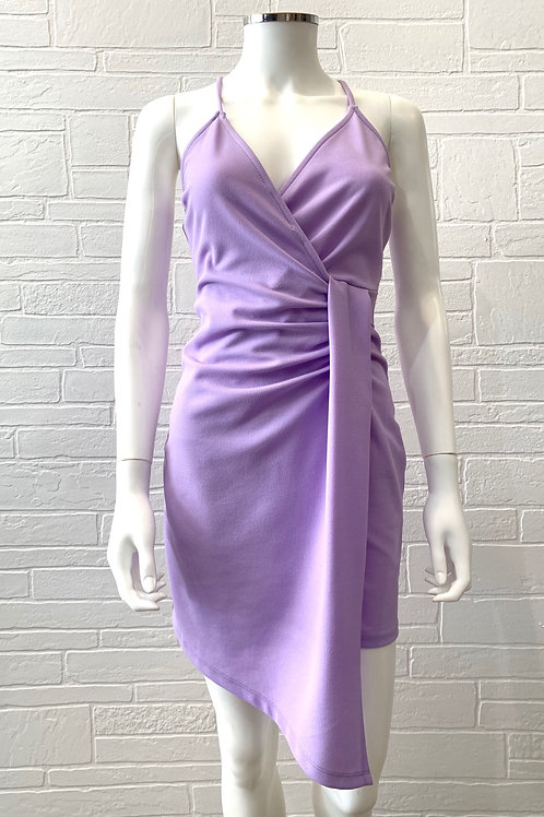 Lavender Wrap Bodycon Dress