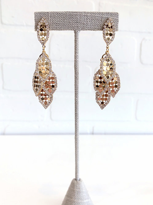 Gold Dangle Sparkly Earring