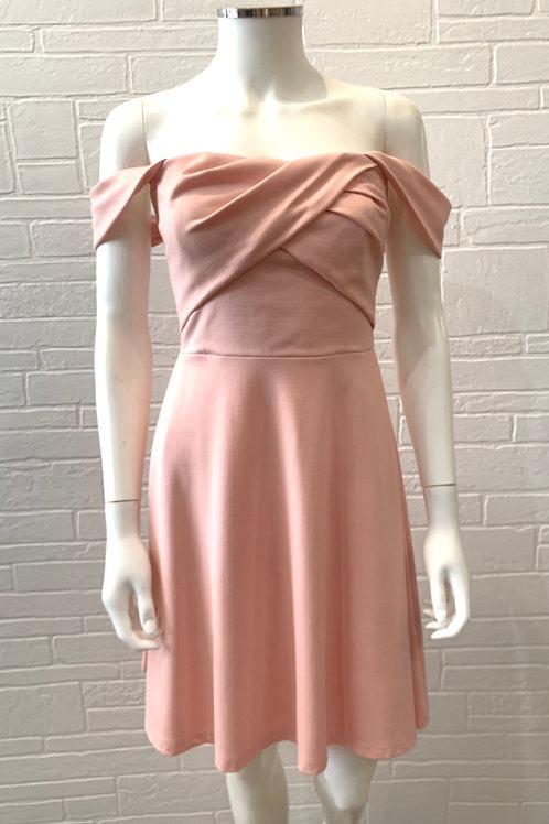 Pink Off-Shoulder Sweetheart Dress
