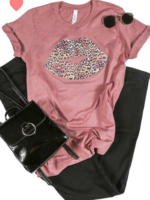 Leopard Lip Graphic Tee