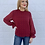 Thumbnail: Dotted Long Sleeve Blouse Wine