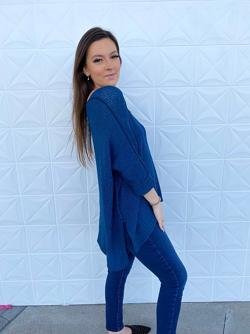 Teal Oversized Sweater