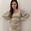 Thumbnail: Sequin Long Sleeve Dress Cream
