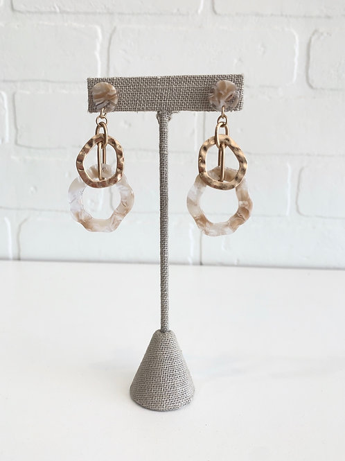Gold and Acrylic Drop Earrings