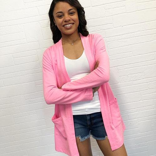Neon Pink Cardigan