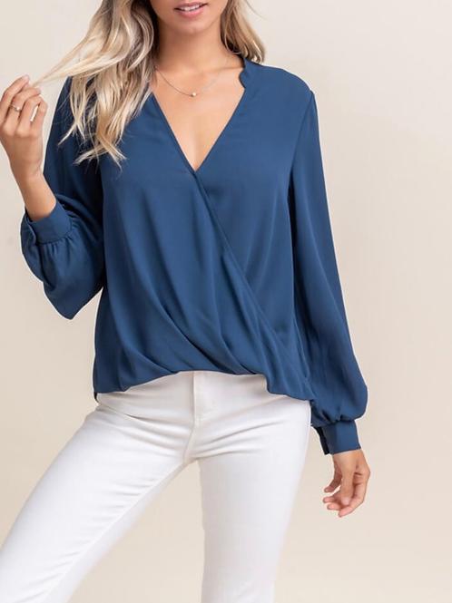 Dark teal blouse