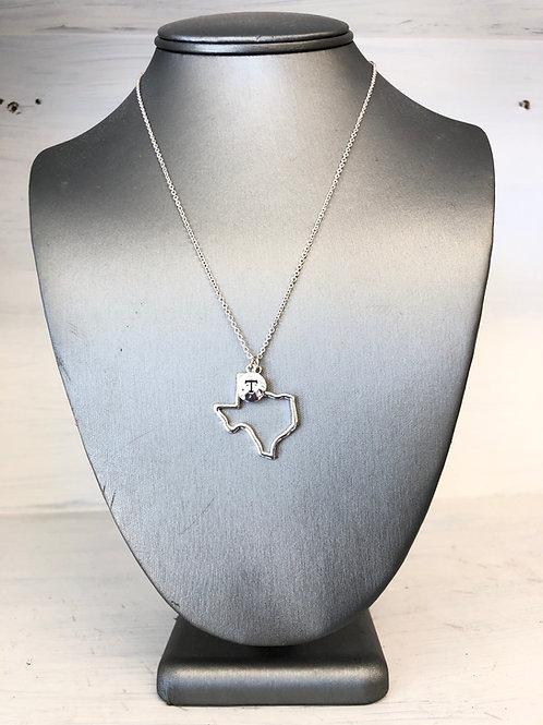 Texas Shape Charm Necklace