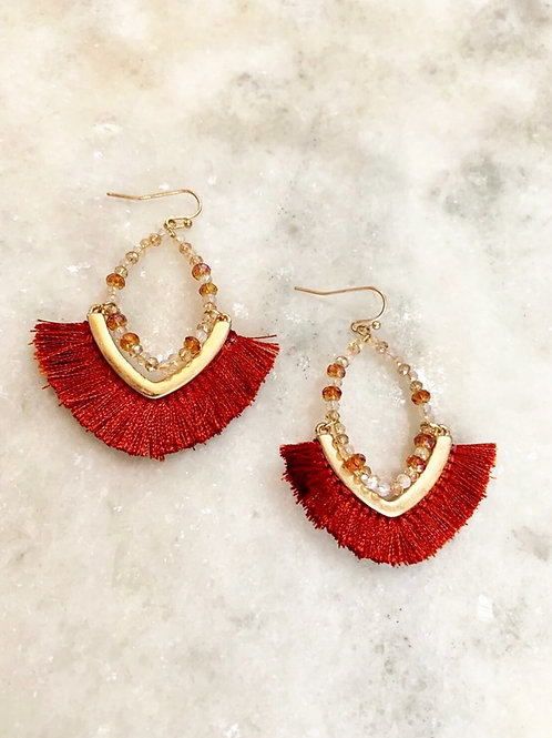 Rust Tassel Earrings