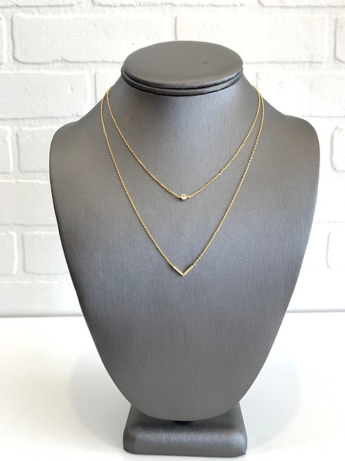 Arrow Diamond Layered Necklace