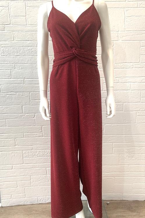 Dark Red Shimmer Jumpsuit