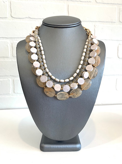 Ivory Cream Chunky Necklace