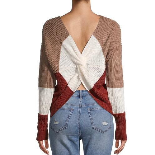 Color Block Twist Sweater