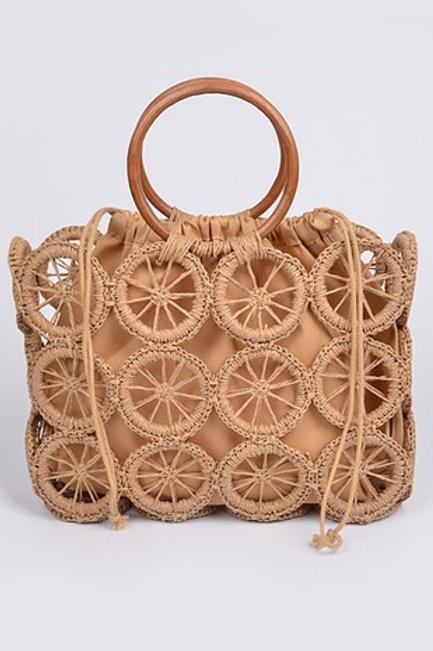 Circle Crochet Handbag