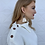 Thumbnail: Collared Knit Button Sweater Cream
