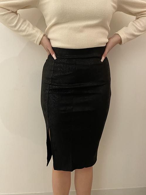 Snake Suede Skirt