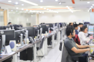 blurred of employee working call centre