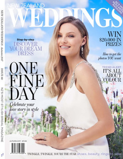 NEW ZEALAND WEDDINGS MAGAZINE COVER