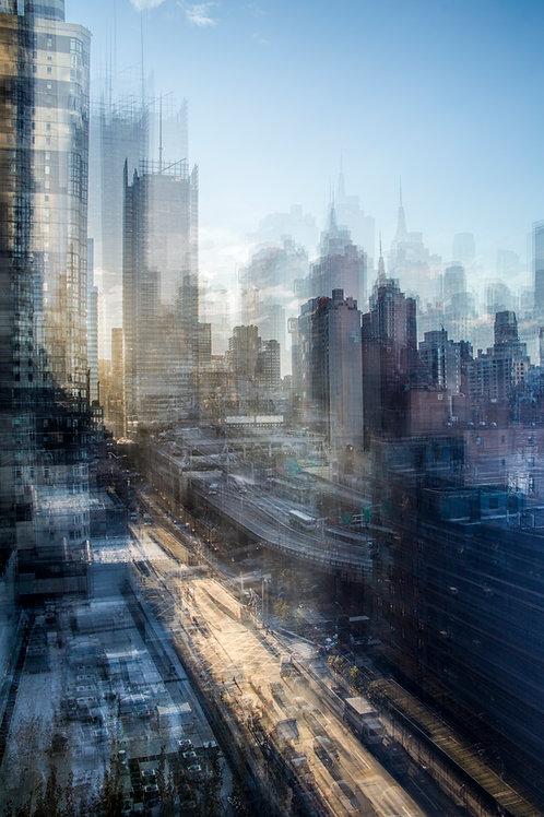 Françoise Hillemand Photographie Série Pulsations: Lever du Soleil sur New York