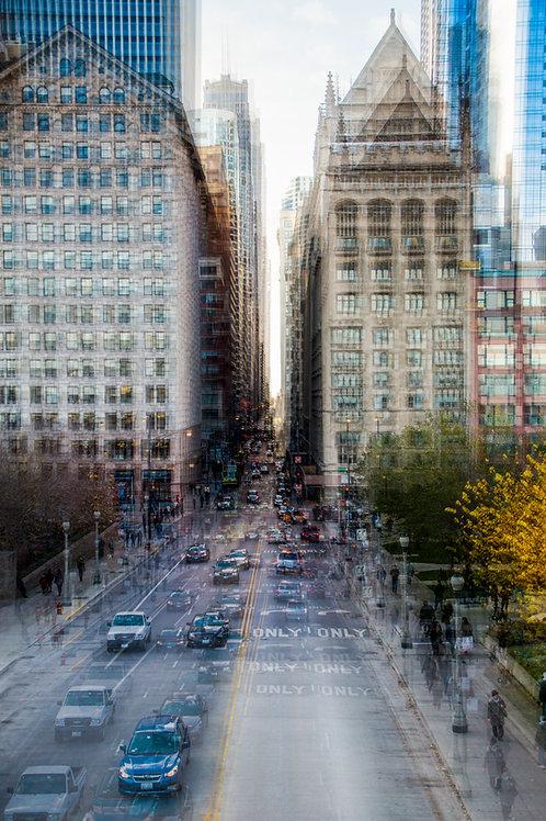 Chicago automnal par Françoise Hillemand   70x105 cm