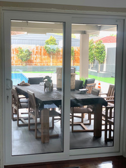 Double glazed Sliding Door in Tropical White/Anthracite by Astellite