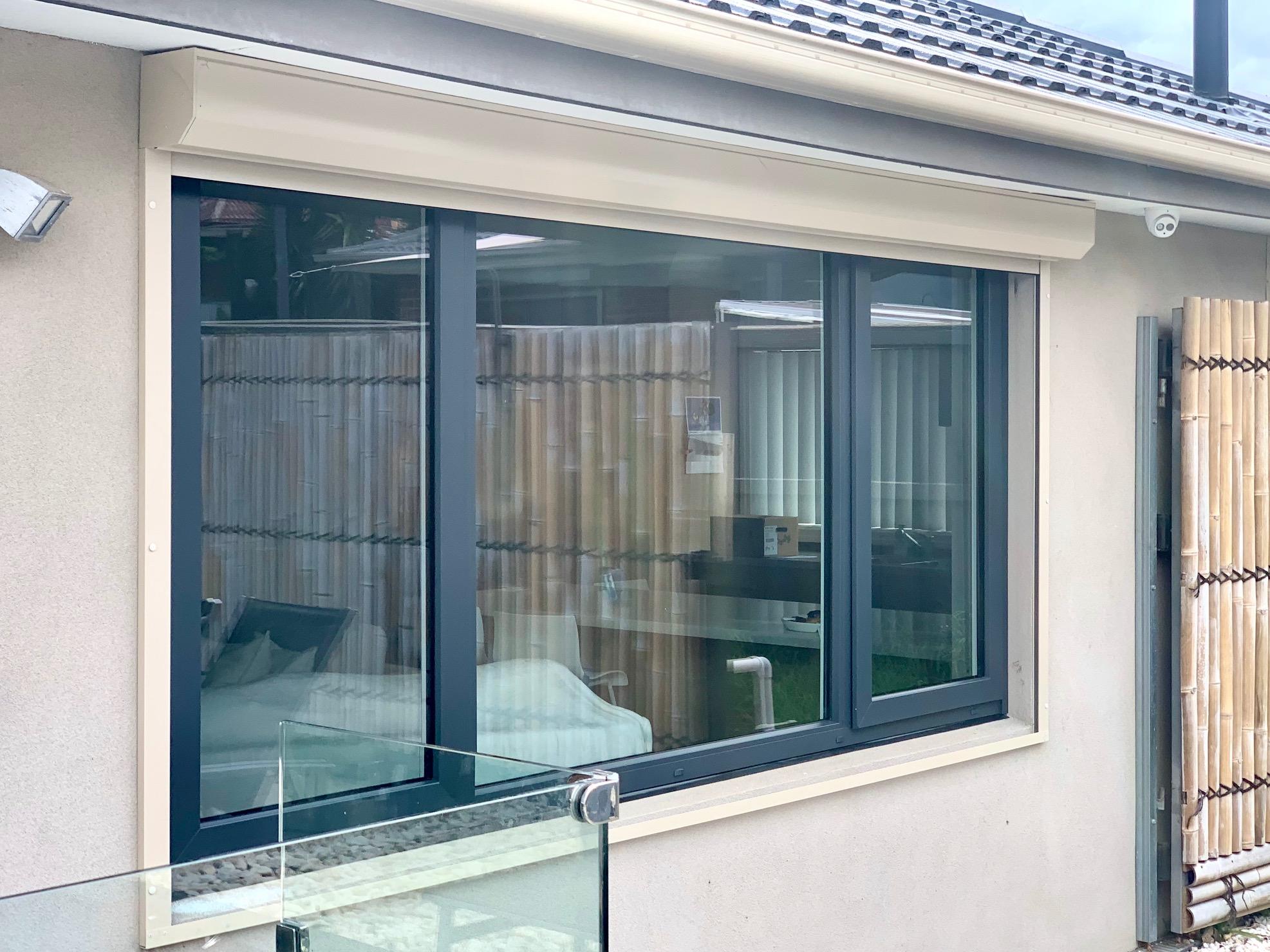 Tropical White/Anthracite uPVC awning windows
