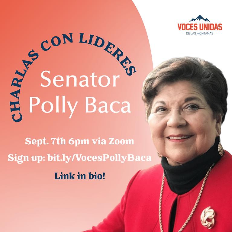 Charla con Senator Polly Baca