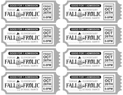 School Dance Tickets