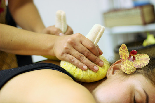 Thai Back Massage with Herbal Compress