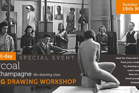 SPECIAL EVENT : BIG Drawing Workshop with Charcoal & Champagne