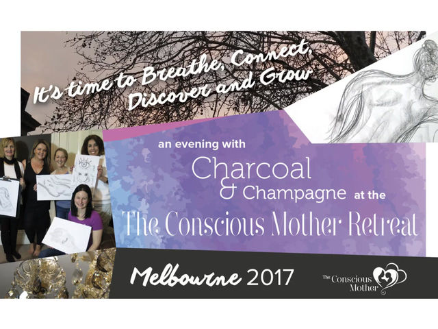 An evening with Charcoal & Champagne at The Conscious Mother Retreat MELBOURNE