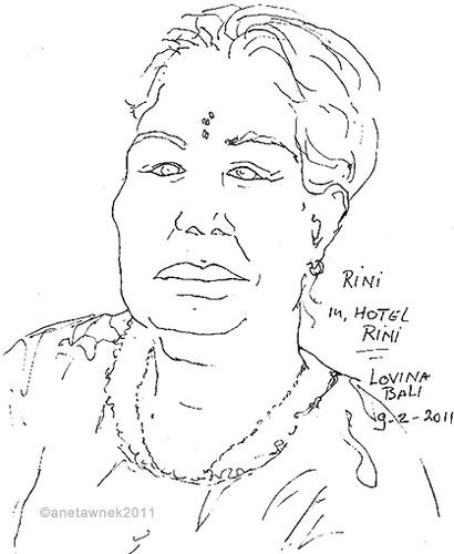 Rini, owner of Hotel Rini, Lovina, Bali.