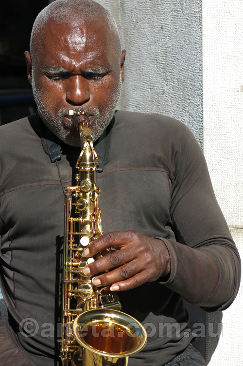 Sweet sounds of the Sax in the street