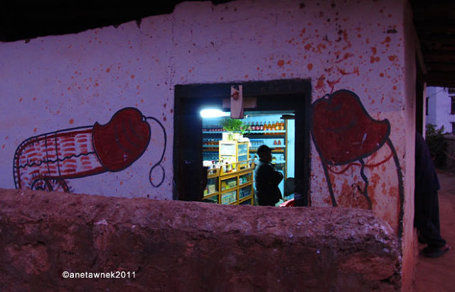 Night falls on the General Shop Cum Bar, Sobsukha Lobeysa