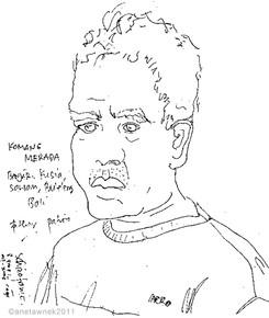 Komang Merada, 8 years in cage built by