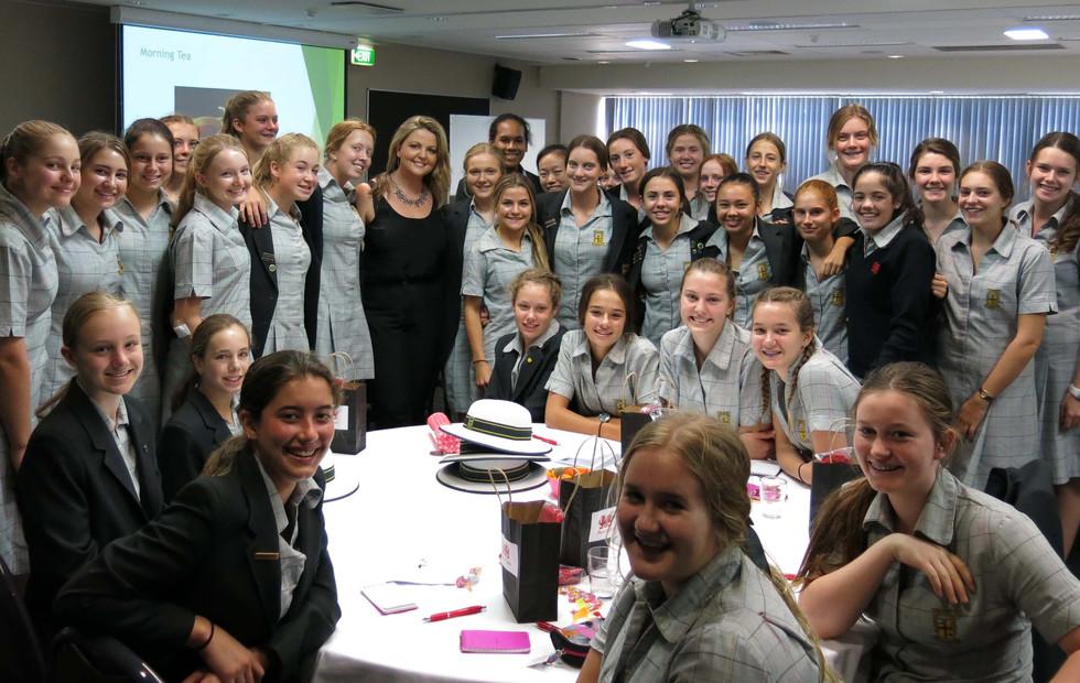 Penrhos College girls with Aneta Wnek, Keynote speaker