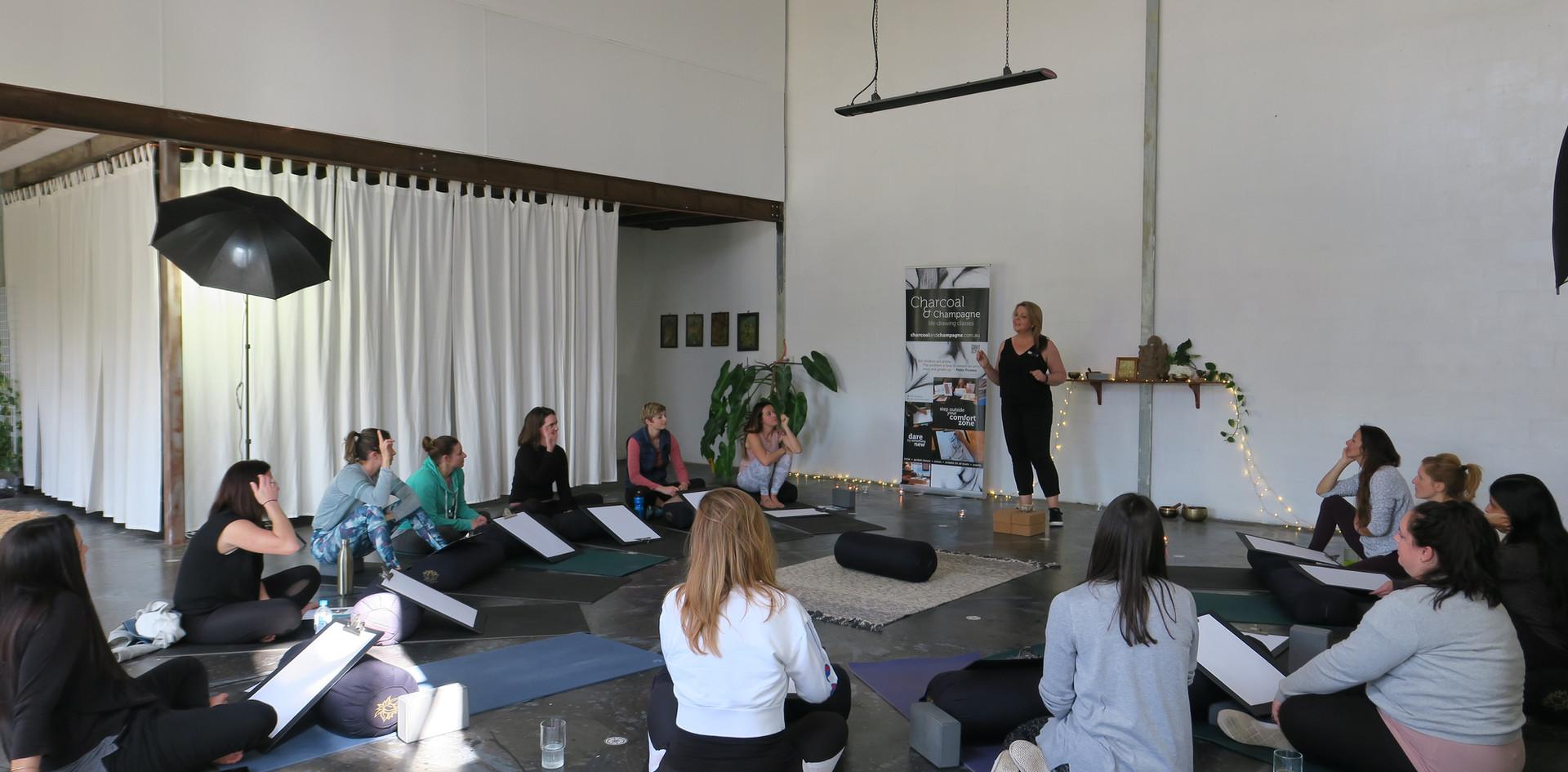 Creativity coach Aneta Wnek guiding each step of the workshop ...