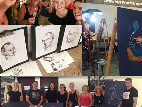 The 'BIG DRAWING WORKSHOP' with Charcoal & Champagne