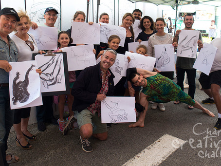 PHOTOS from the 'Charcoal Creative Challenge' at Angelo Street Marketplace 2017
