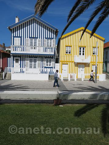 Beautiful architecture of Aviero coast, Portugal.