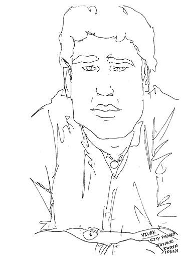 Vivek - artist at the City Palace, Jaipu