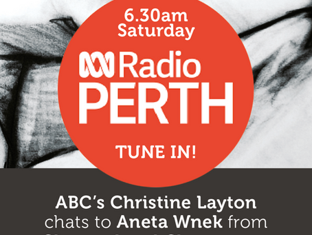 Breakfast chat on ABC RADIO - tune in this Saturday!
