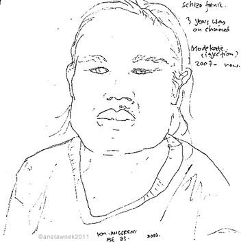 KM. Anggreni, 25, Schizophrenia, spent 3