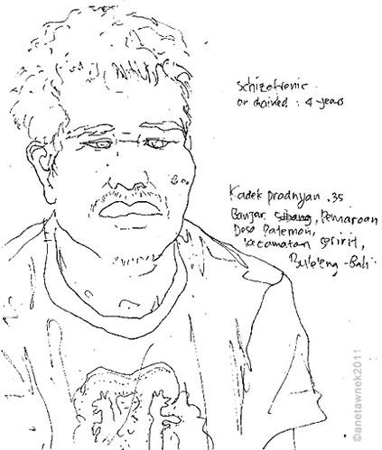 Kadek Pradnyan, 35, Schizophrenic, 4 yea