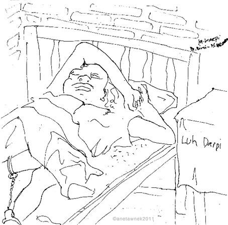 Luh Karpi, Ketut's sister, Schizophrenia