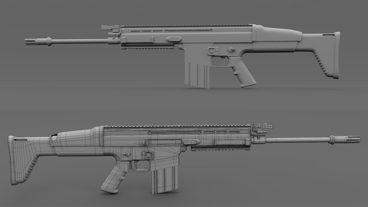 Scar Military Rifle