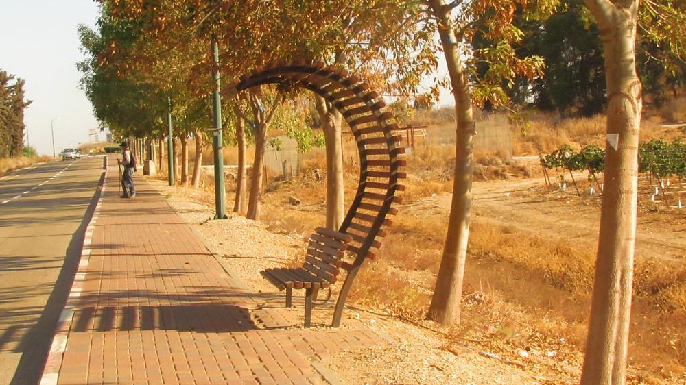 Neat entrance to moshav Yesodot