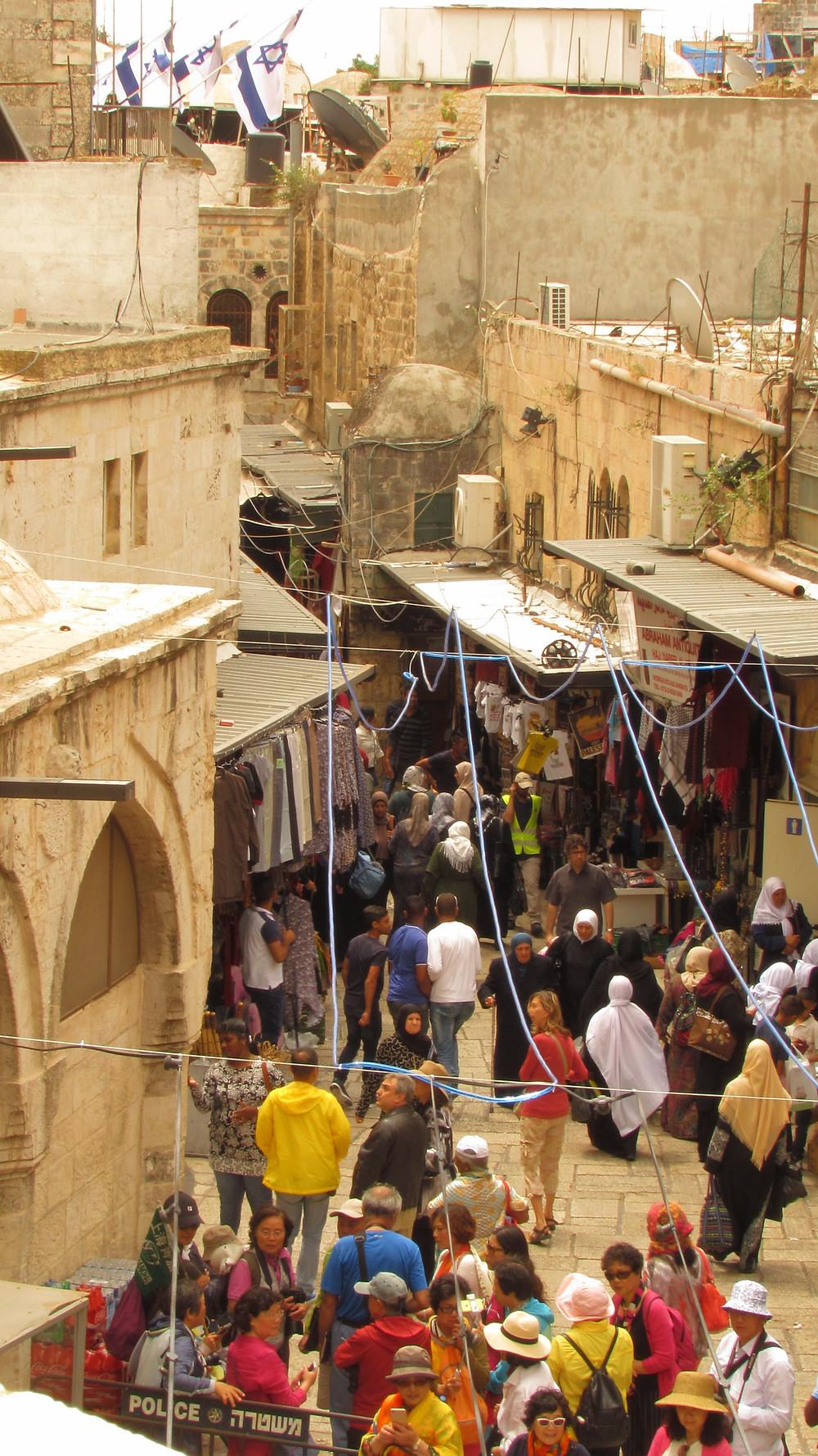 Jews, Christians, Moslems in the Via Dolorosa